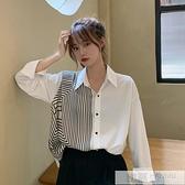氣質中長款白色襯衫女秋季2020新款韓版設計感小眾不規則長袖襯衣 韓慕精品