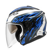 ZEUS瑞獅安全帽,ZS-613B,AJ5/白藍