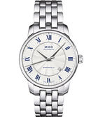 MIDO 美度 Baroncelli II 羅馬假期機械手錶-銀 M86004211