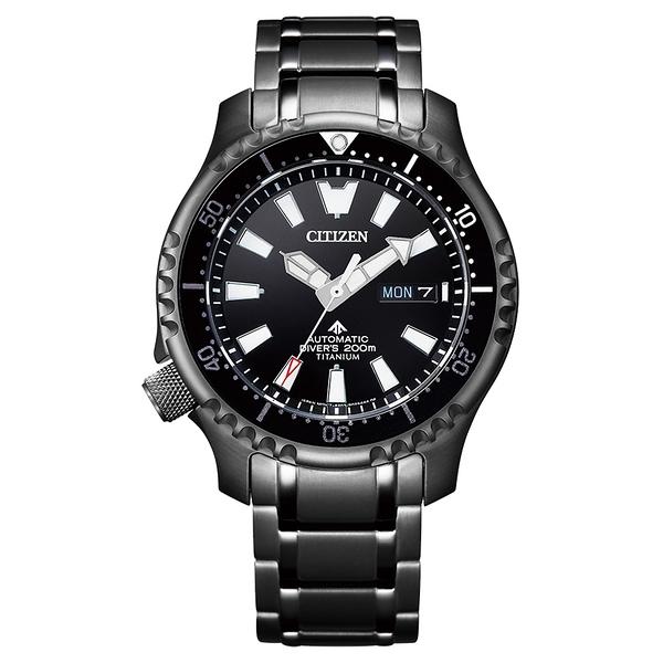 CITIZEN PROMASTER 鋼鐵河豚系列 深海潛航限量機械腕錶-全黑