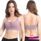 【南紡購物中心】【LOTUS】前抓皺3D視覺美胸無鋼圈內衣-藕芋紫 AE808-PL