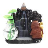 香爐 倒流陶瓷家用流高山流水和尚創意擺件 交換禮物