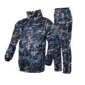 雨衣-年輕保暖潮流迷彩雙層分體男女風衣式雨具1色71h14【時尚巴黎】
