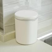 日式簡約按壓式桌面垃圾桶創意迷你帶蓋小號客廳廚房辦公桌收納桶   LannaS