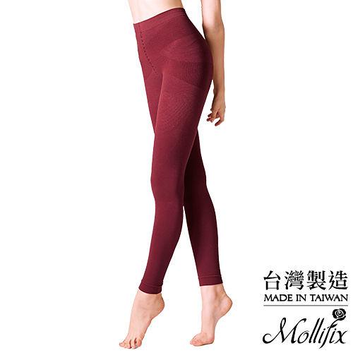 Mollifix瑪莉菲絲 恆溫美型奈米刷毛鉛筆褲(赤赭紅)