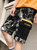 男士短褲夏季韓版潮流工裝寬鬆薄款七分褲