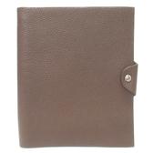 HERMES 愛馬仕 深棕色牛皮筆記本套(附內頁)ULYSSE-MM Notebook Cover 【BRAND OFF】