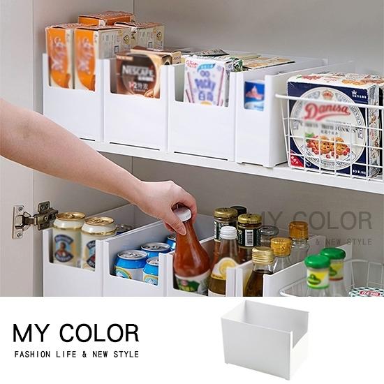 收納箱 收納盒 收納架 整理架 調料架 分類 整理盒 可疊加櫥櫃整理收納盒(04)【N345】color me