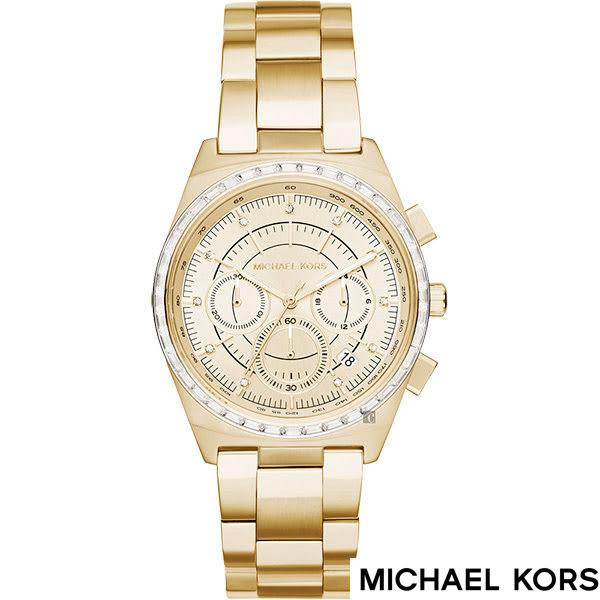 MICHAEL KORS 晶鑽錶框優雅三眼金色女錶x38mm MK6421 公司貨保固2年|名人鐘錶高雄門市