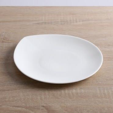 HOLA home 人魚線骨瓷淺盤9.5吋