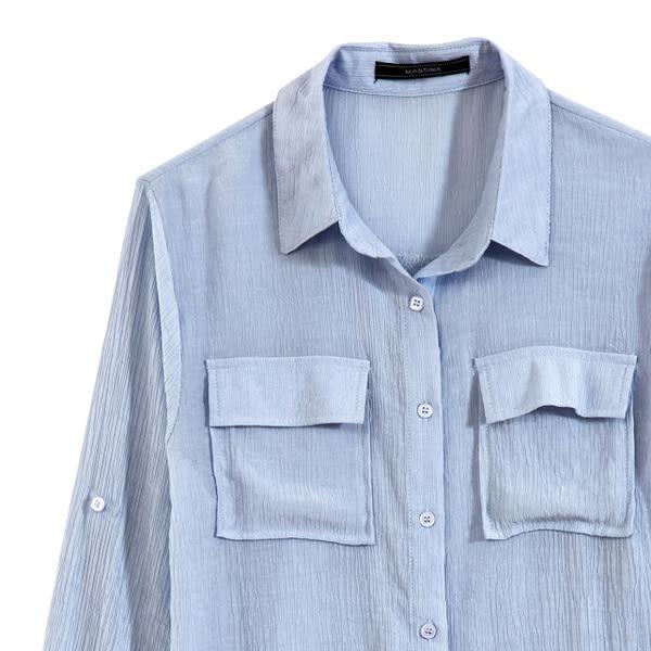 【MASTINA】春氛雪紡襯衫-藍 0524