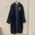 韓版百搭寬鬆時尚復古中長款風衣連帽牛仔外套(F碼/777-7665)