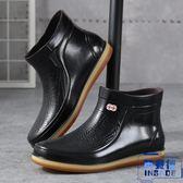 男 雨鞋短筒水鞋低幫防滑防水耐磨膠鞋 雨靴【英賽德3C數碼館】