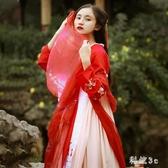 秋水漢服女學生中國風改良漢元素齊胸襦裙超仙日常裝夏季 FX4188 【科炫3c】