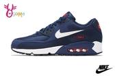 NIKE AIR MAX 90 ESSENTIAL 成人男款 運動鞋 慢跑鞋 P7028#藍色◆OSOME奧森鞋業