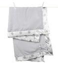 【美國 Little Giraffe】嬰兒被|頂級攜帶毯 - 豪華彩色新點點嬰兒毯(銀灰款)  NDLBKTSV