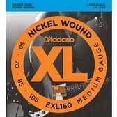 小叮噹的店 Daddario EXL160 4弦 電貝斯弦 (50-105) BASS 弦