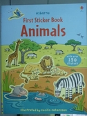 【書寶二手書T2/少年童書_PFD】First Sticker Book Animal_Cecilia Johansso