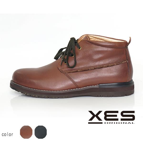 XES 男鞋 商務 休閒鞋 百搭時尚 刷色 透氣 舒適鞋_經典咖