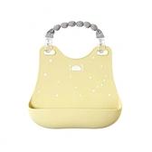 日本 Hoppetta 兒童立體防漏餐圍兜 - 雲朵星彩/黃色