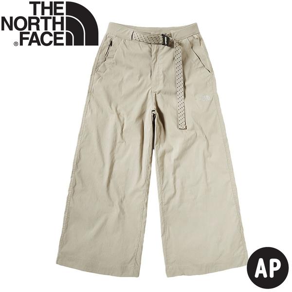 【The North Face 女 休閒寬褲《米色》】4981/休閒長褲/寬褲/戶外/登山/長褲