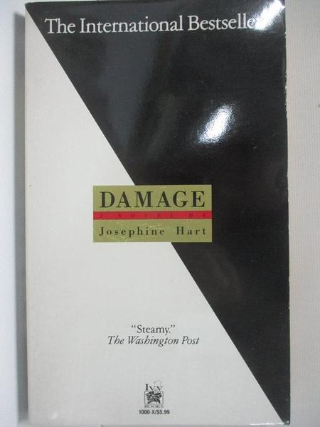 【書寶二手書T1/原文小說_AUC】Damage_Josephine Hart