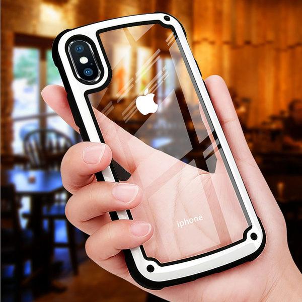 軍工殼 APPLE iphone XS MAX XR 亞克力防摔 保護套 XSMAX 透明背殼 馬卡龍色 防摔 保護殼 手機殼