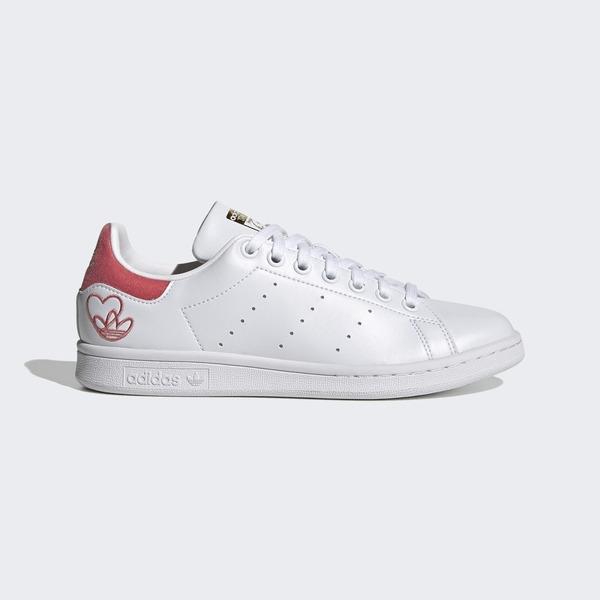 Adidas Stan Smith W [G55666] 女鞋 運動 休閒 經典 穿搭 愛迪達 舒適 愛心 白 紅