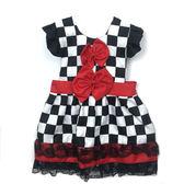 【BlueCat】撲克牌黑白格子公主圍裙 兒童圍裙