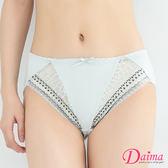 內褲【黛瑪Daima】氧氣美人(FREE)雙色蕾絲小褲_灰色