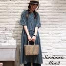 「Summer」十字繡流蘇綁帶設計純棉開襟洋裝 (提醒 SM2僅單一尺寸) - Sm2
