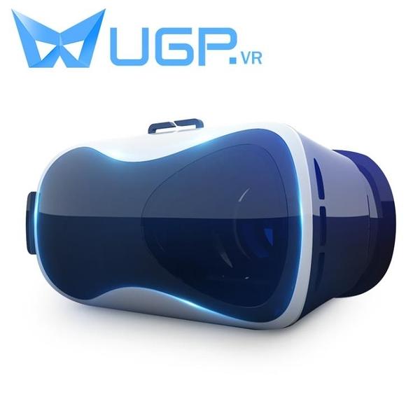 VR眼鏡 ugp頭盔VR眼鏡虛擬現實3d立體眼睛rv手機游戲機box專用4d一體機ar  艾維朵