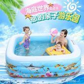 兒童游泳池家用折疊充氣游泳池嬰兒洗澡玩具大號小孩厚室內 莫妮卡小屋