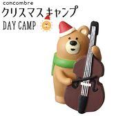 Hamee 日本 DECOLE concombre 聖誕露營夜 療癒公仔擺飾 (大提琴棕熊) 586-740036