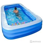 兒童充氣游泳池家用成人超大號加厚家庭新生嬰兒游泳桶寶寶戲水池 居樂坊生活館