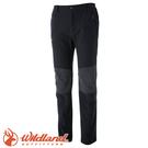 【Wildland 荒野 特 男款 RE粗曠拼接保暖長褲《深鐵灰》】0A52362/四向彈性/耐磨/粗曠硬挺