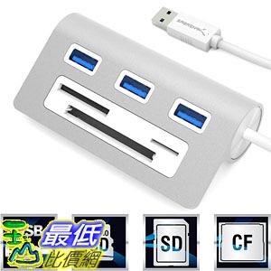 [美國直購] Sabrent (HB-MACR) 集線器 讀卡機 Premium 3 Port Aluminum USB 3.0 Hub with Multi-In-1 Card Reader