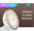 智慧LED光控人體感應小夜燈充電池式款樓...