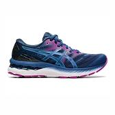 Asics Gel-nimbus 23(D) [1012A884-402] 女鞋 運動 休閒 慢跑 緩衝 亞瑟士 藍 紫