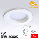 HONEY COMB 一般家用型LED 7W 崁燈 2入一組TK3408-3