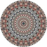 圓形地墊 美式輕奢復古圓形地毯北歐床邊地毯客廳臥室書房家用吊籃瑜伽地墊