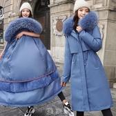 一衣三穿可拆卸派克服女中長款過膝棉衣加厚加絨收腰顯瘦棉服外套 快速出貨