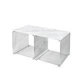 Montana 34.8x70cm 潘頓系列 線條 方形壁櫃 專用配件-檯面桌板(雙格櫃 櫃深 38 cm 專用)-白色大理石紋