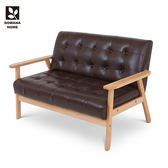 ♥多瓦娜美閣兒DIY雙人沙發/深咖啡-皮面-Link-NewS-001-2P-CE 均一價3688