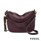 FOSSIL JOLIE 真皮新月斜背包-無花果紫紅 ZB7716503