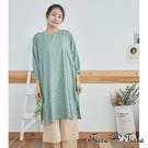【Tiara Tiara】女神洋裝 古典緹花7分袖洋裝(綠)