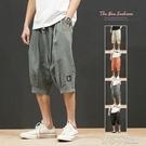 短褲 2055 夏天七分褲男休閒短褲潮流寬鬆褲子夏季男士薄款7分褲潮夏裝 16【618特惠】