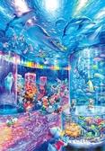 【拼圖總動員 PUZZLE STORY】晚上的水族館 日本進口拼圖/Tenyo/迪士尼/夜光/1000P