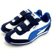 《7+1童鞋》中童  PUMA  Whirlwind L V PS  輕量 透氣 休閒 運動鞋 8234 藍色