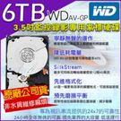 WD 3.5吋 6TB 監控專用紫標硬碟